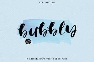Bubbly | Brush Font