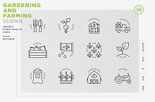 Gardening and Farming icons by  in Icons