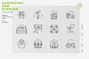 Gardening and Farming icons