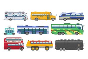 Bus vector public transport tour or