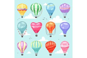 Balloon vector cartoon air-balloon
