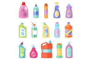 Detergent bottle vector plastic