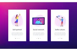 Selfie app interface template.