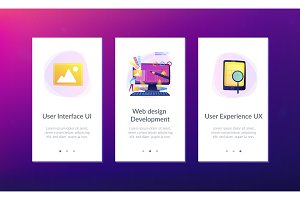 Web design development app interface