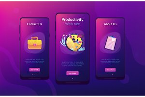 Time management app interface