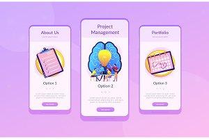 Project management concept app
