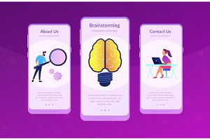 Creating ideas concept app interface