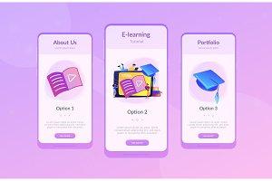 Video tutorial app interface