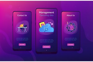 Cloud management app interface