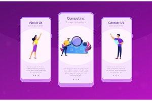 Big data app interface template.