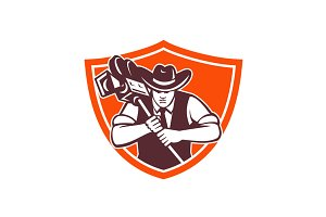 Cowboy Camera Operator Shield