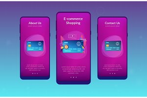 Plastic money app interface template