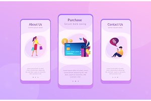 Debit card app interface template.