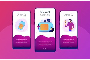 Mobile phones card app interface