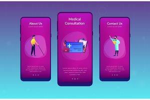 Healthcare smart card app interface