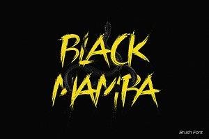 Black Mamba Vol.1 Brush Font
