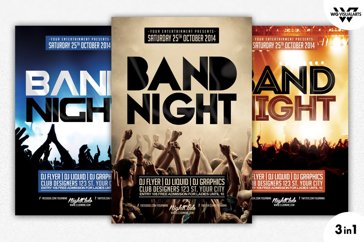 how to design your own flyer templates and tips creative market 3in1 band concert flyer template