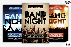 3in1 BAND CONCERT Flyer Template