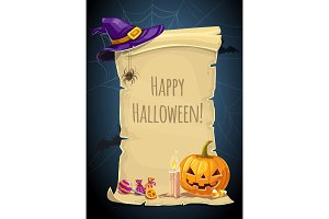Halloween holiday paper scroll