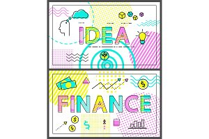 Idea and Finance Collection Vector