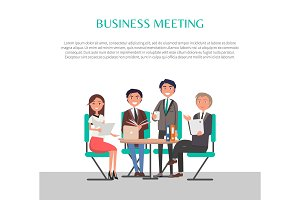 Business Meeting Poster People
