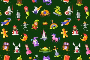 Fairy Tales Elements Pattern