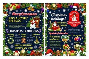 Merry Christmas winter holidays