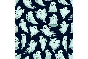 Halloween ghost pattern, holiday