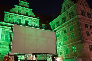 Large Outdoor Movie Projector Screen