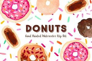 Donut Watercolor Clip Art Graphics