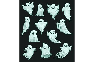 Halloween vector cartoon ghosts