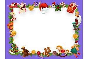 Christmas greeting blank frame