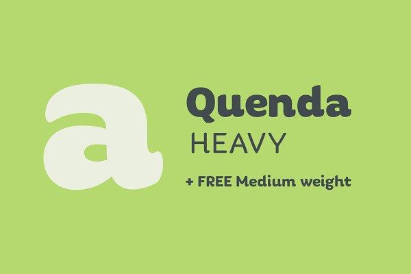 Sans Serif Fonts - Quenda Heavy + Medium