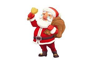 Christmas Santa with gift sack