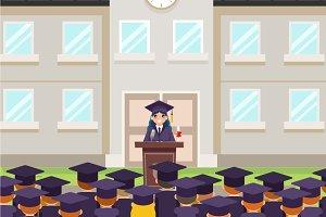 Graduate solemn tribune speech