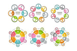 Circle shapes for infographics