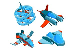 Spaceships isometric. Building