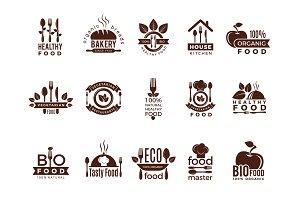 Restaurant logo. Food manufacture