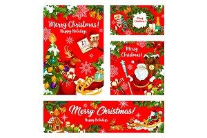 Christmas gift and Santa