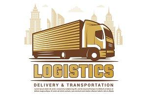Logistics background. Vector