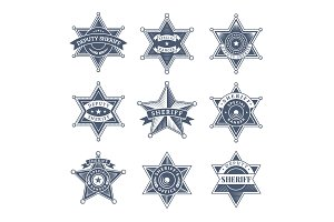 Security sheriff badges. Police