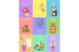 Birthday cards with animals