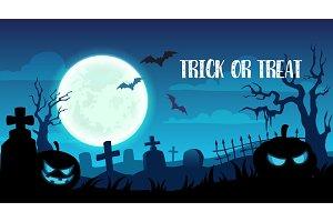 Halloween trick or treat cemetery