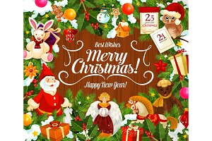 Merry Christmas wish and gifts