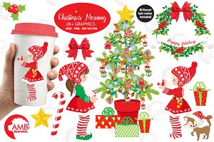 Christmas Elves Clipart AMB-1519