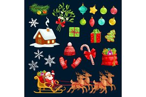 Holiday icons, Christmas Santa