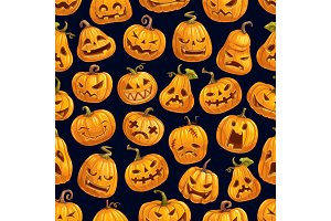 Halloween pumpkin pattern, holiday