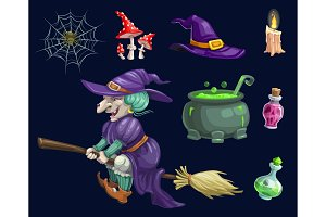 Halloween holiday witch