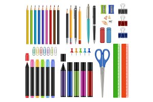 Stationary collection. Pen pencils