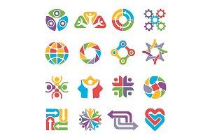 Circle logo shapes. Community group